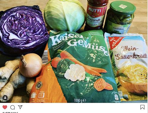 Gemüse auf Vorrat